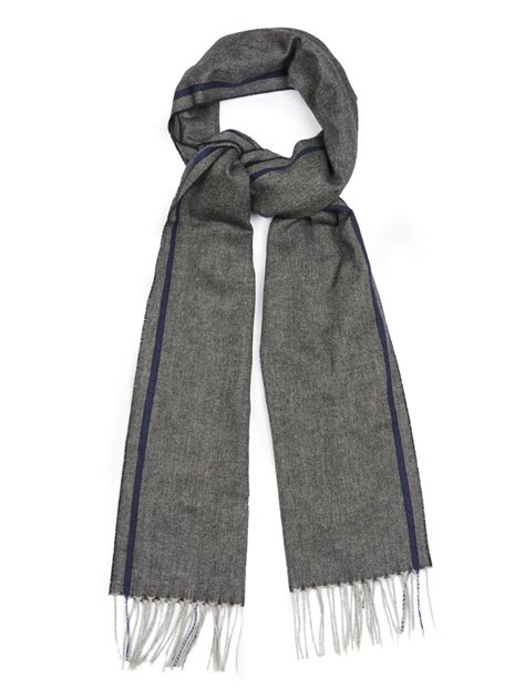 ermenegildo zegna silk and blend scarf in gray