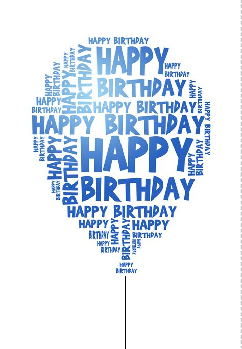 printable birthday cards for son blue birthday balloon happy birthday balloons free