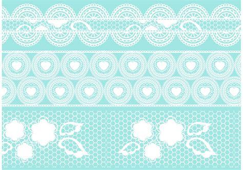 crochet lace vector set   vector art stock