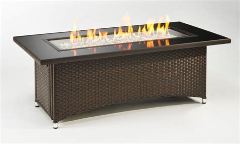 Montego Gas Fire Pit Table   Balsam Wicker Base   MG 1242