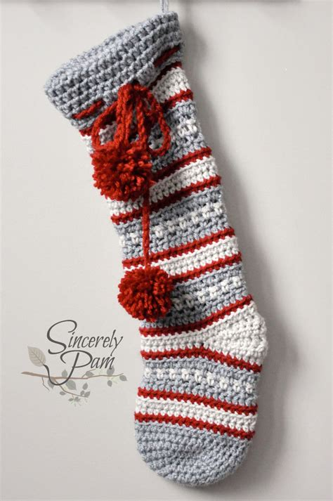 pattern stockings christmas dylan christams stocking crochet pattern pdf
