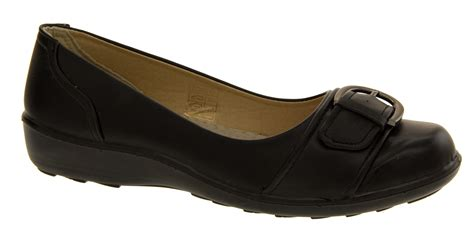 school shoes size 4 womens black ballerinas dolly pumps school