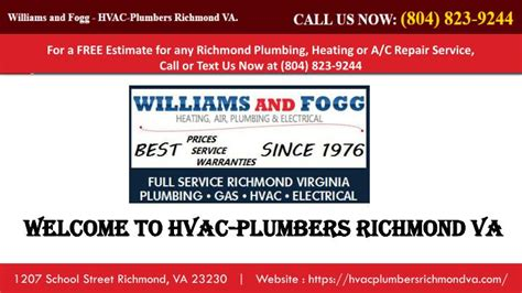 Plumbing Richmond Va by Ppt Hvac Repair Richmond Va Hvac Richmond Va