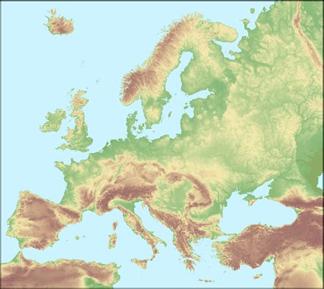 europe elevation map low polygon 3d europe map