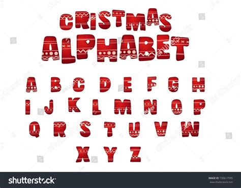 merry christmas alphabet letters holiday ornament stock vector  shutterstock