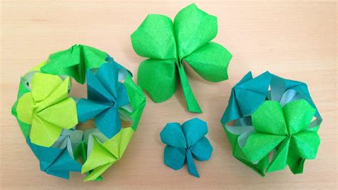 Origami Four Leaf Clover - origami 226 165 shamrock or leaf clover origami tutorial for