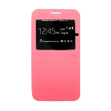 jual ume flip cover casing for samsung a710 pink