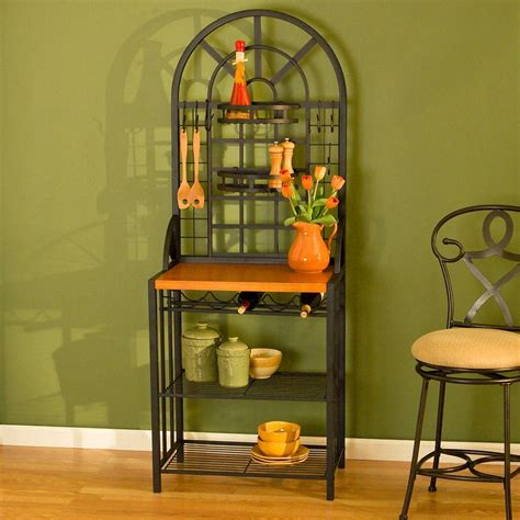Bakers Rack With Wine Storage by Home Decorators Collection Dome Steel 26 In W Baker S