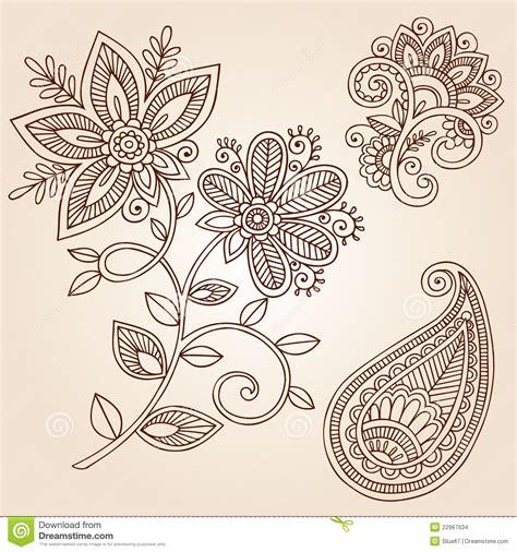 doodle elementos elementos do projeto do vetor do doodle da flor do