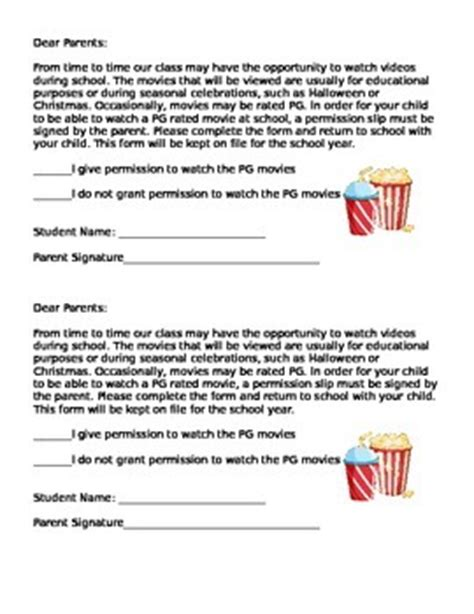 Permission Letter To Pg Pg Permission Slip Freebie Classroom Management At And Watches