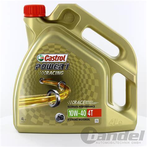 Castrol 10w40 Motorrad by 8 48 L 4l Castrol Power 1 Racing 4t 10w 40 Motorrad 214 L