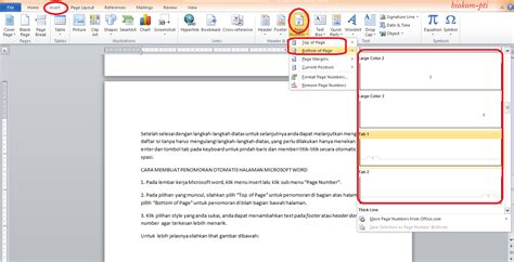 cara membuat penomoran halaman pada microsoft word 2007 biokom pti reference article tutorial application