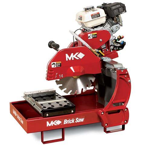gas powered masonry table saw mk 2000 series brick block saws