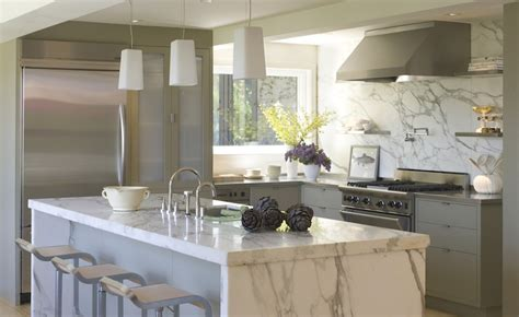 calcutta marble island contemporary kitchen ken