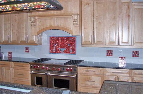 red kitchen tile backsplash nancy s hand painted red kitchen backsplash