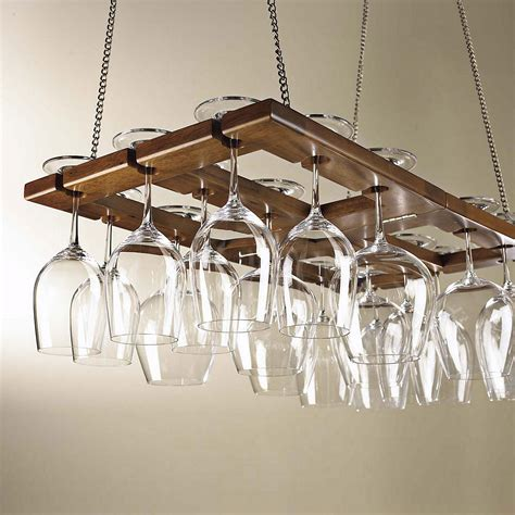 Wine Glass Shelf Rack by Hanging Mahogany Wine Glass Rack Ebay