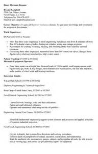 diesel mechanic resume sle diesel mechanic resume sles cover letters and resume