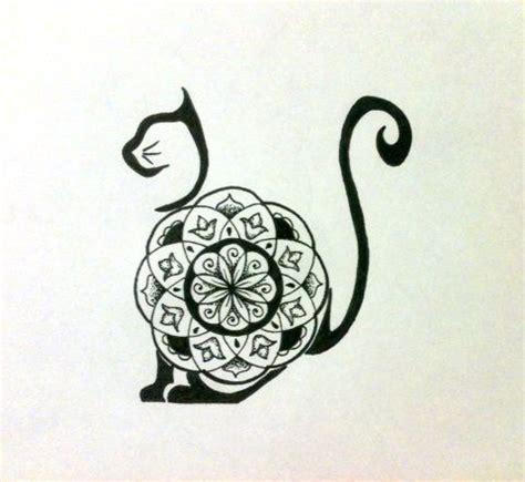 tattoo mandala cat mandala cat tattoo idea my tattoos watercolor tattoos