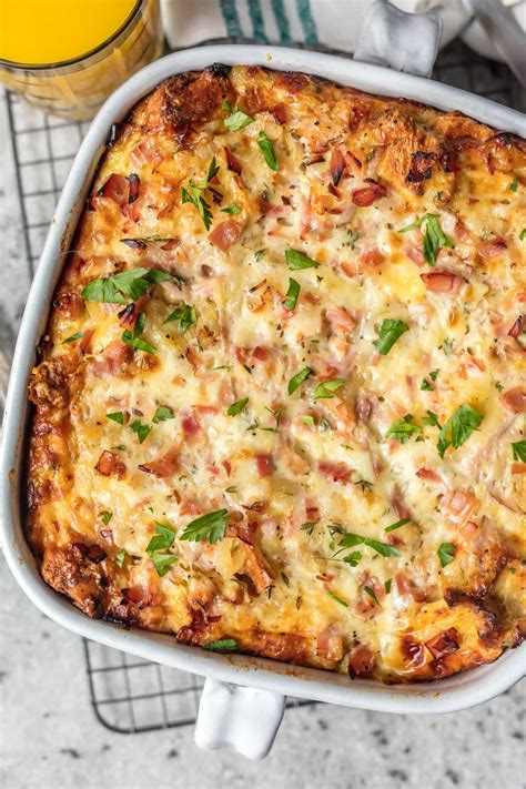 ham and cheese breakfast casserole the cookie rookie