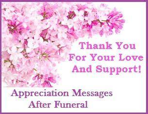 appreciation letter condolences appreciation messages bereavement thank you card