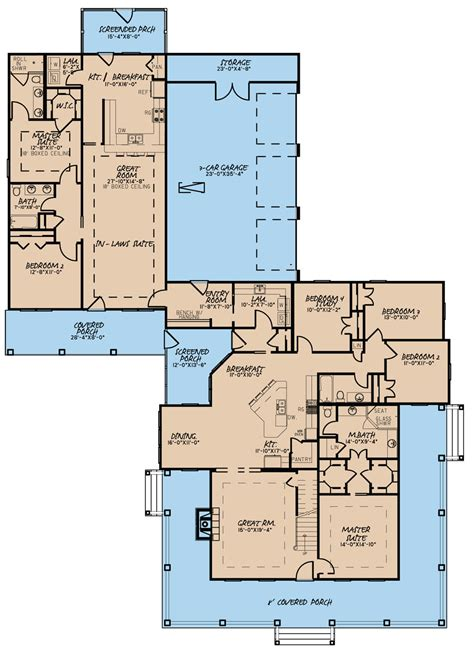 floor plans with in suite country house plan 193 1017 6 bedrm 3437 sq ft home