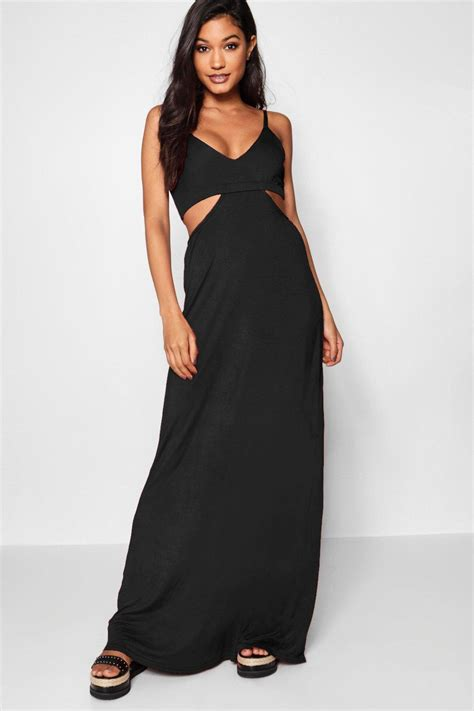 cut out maxi dress boohoo womens milly cut out strappy maxi dress ebay