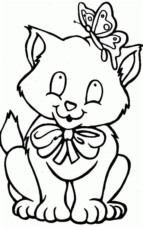 cat coloring page pdf cat and butterfly coloring pages cat coloring pages
