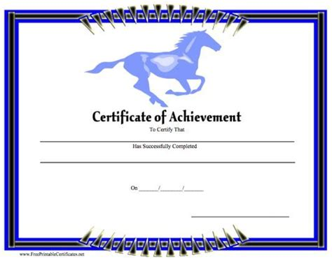17 Best Images About Certificates On Pinterest Jokes Sun And Running Horseback Gift Certificate Template