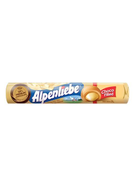 Alpenliebe Filled Cokelat 38g alpenliebe karamel white chocolate rol 38g