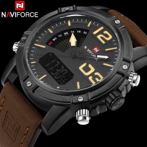 Jam Tangan Navi Brown navi jam tangan analog digital pria 9095 black