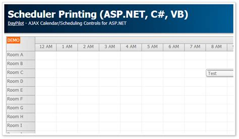 tutorials daypilot for asp net mvc calendar scheduler scheduler printing asp net c vb net daypilot code