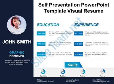 Personal Introduction Powerpoint Template Self Presentation Powerpoint Template Visual Resume Powerpoint Slides Diagrams Themes For