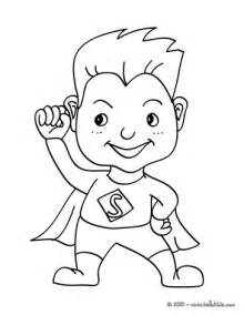 Kids Superhero Coloring Pages sketch template