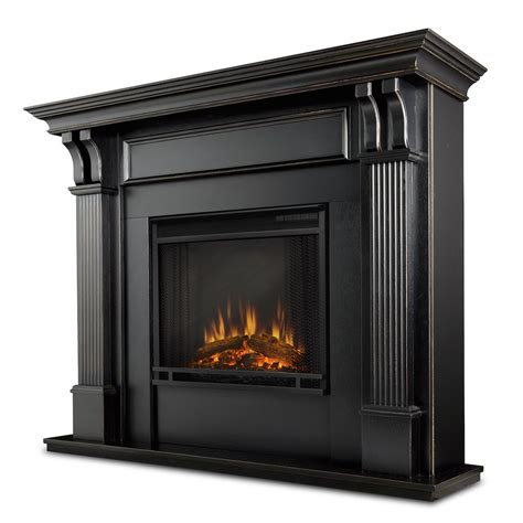 Electric Black Fireplace by Real Indoor Electric Fireplace In Black Wash