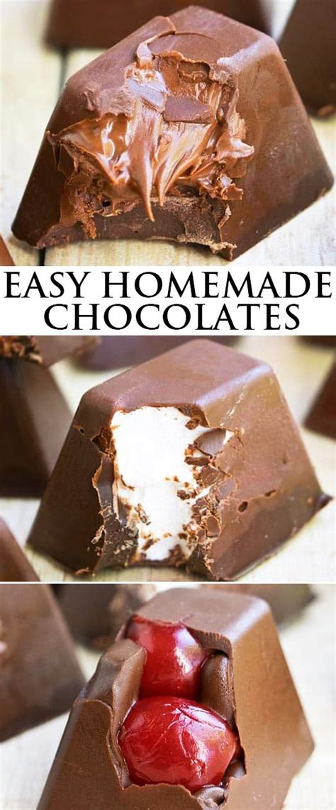 Handmade Chocolates Recipes Filling - best 25 chocolates ideas on healthy