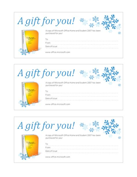 download gift certificate for microsoft office home and