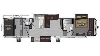 Raptor Rv Floor Plans 2017 keystone raptor 425ts floor plan toy hauler