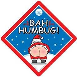 bah humbug car sign bah humbug sign christmas sign rude