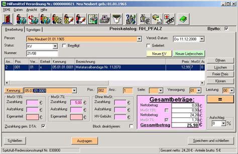 Rechnung Zuordnen Englisch Sanit 228 Tshaus Software Zur Rezeptabrechnung