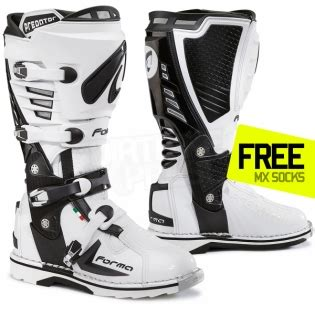 white motocross boots forma predator boot white dirtbikexpress