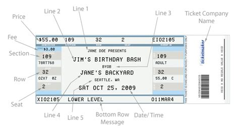 excellent concert ticket template exle with detail