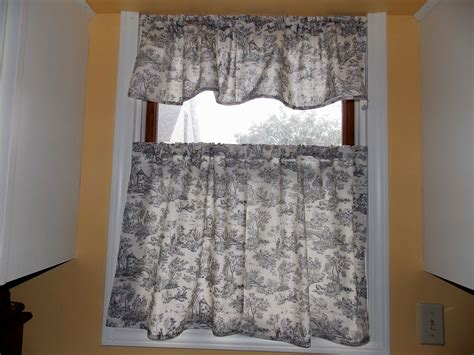 Black And White Toile Kitchen Curtains by Black And White Toile Kitchen Curtains Black And White