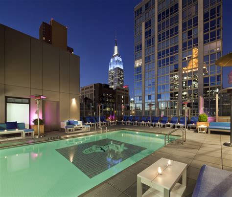 hotel nyc hotels with amazing rooftop pools eccentric hotels
