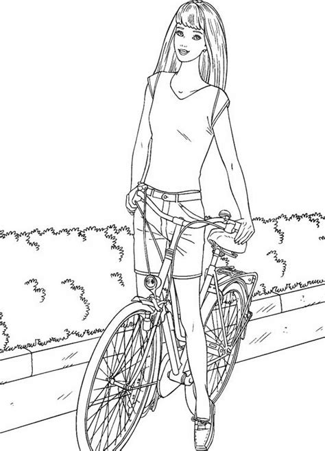 barbie bike coloring page free coloring pages of doll bike