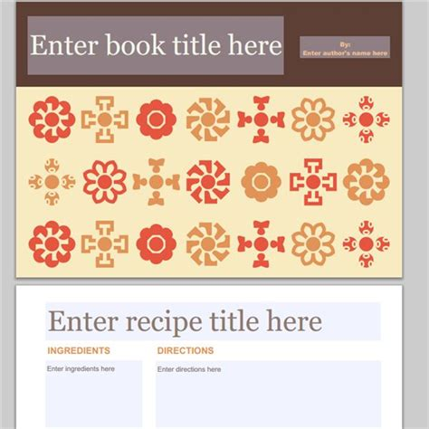 recipe powerpoint template collection of free cookbook templates great layouts for