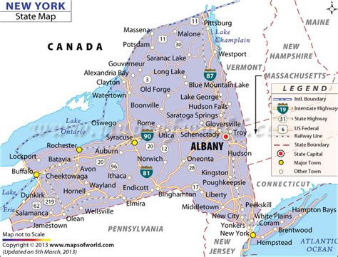 map of state of new york new york state map