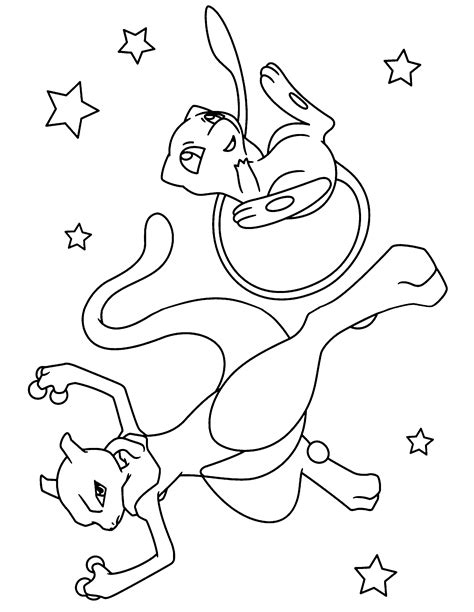 free mewtwo x coloring pages