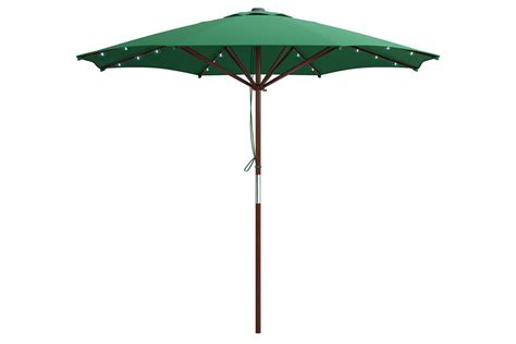 Green Patio Umbrella by Green Patio Umbrella With Solar Power Led Lights