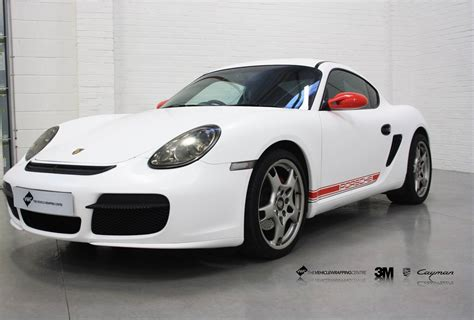 porsche matte white porsche cayman 3m matte white personal vehicle wrap project