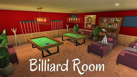 robloxbloxburg billiard room speed build beautiful